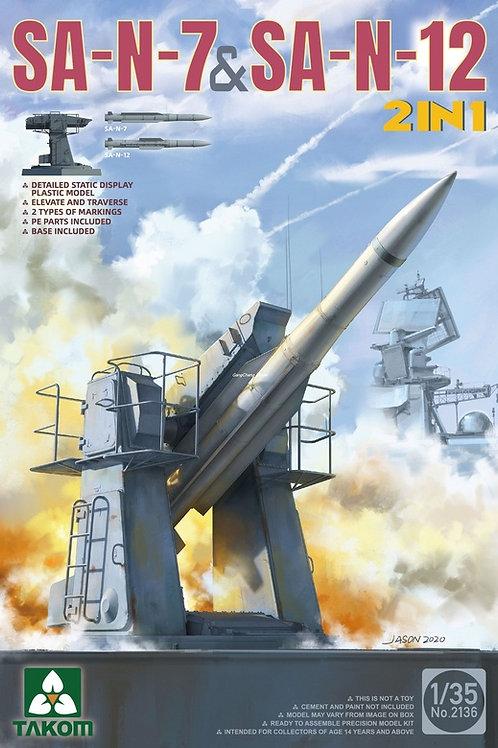 (п/заказ) Российский ЗРК М-22 Ураган (SA-N-7 + SA-N-12), 2 в 1 - Takom 1:35 2136
