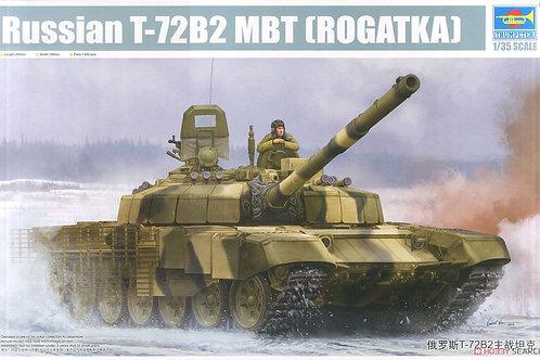 """Российский танк Т-72Б2 """"Рогатка"""" - Trumpeter 09507 1/35"""
