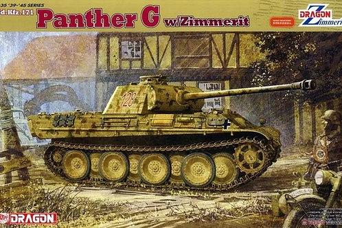 Танк Пантера G с циммеритом - Dragon 6384 1:35 (DS траки винил)