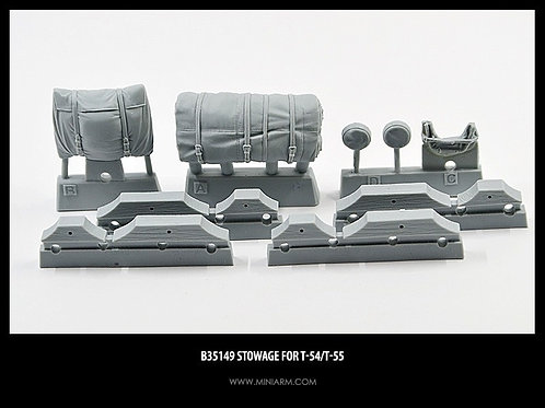 35149 MINIARM Набор штатной укладки для Т-54, Т-55 (7 шт), b35149 1:35