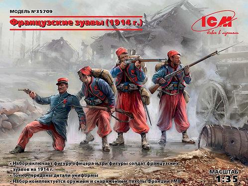 ICM 35709 Фигуры, Французские зуавы (1914 год), Первая мировая война 1:35
