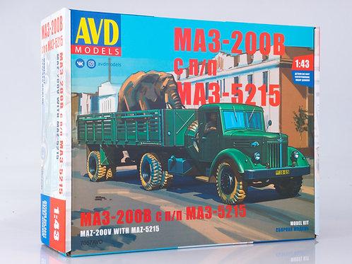 7057AVD Models 1/43 Седельный тягач МАЗ-200В с полуприцепом МАЗ-5215