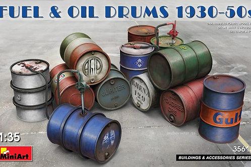 35613 MiniArt 1/35 Металлические бочки для топлива и масла 1930-50-х годов