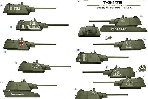 35048 Colibri Decals 1/35 Декали Т-34-76 завод 183, выпуск 1942 года