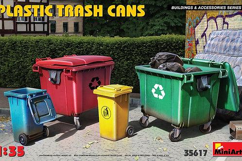 (под заказ) Пластиковые мусорные баки, Plastic Trash Cans - MiniArt 1:35 35617