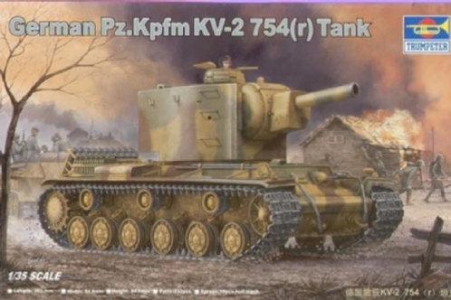 Трофейный КВ-2 German Tank Pz.Kpfm KV-2 754(r) - Trumpeter 00367 1:35
