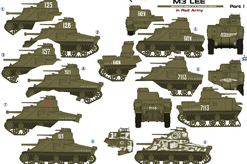 35027 Colibri Decals 1/35 Декали М3 Ли в Красной Армии, ч.1 / M3 Lee in the Red