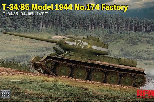 (в пути) Советский танк Т-34-85 1944 года, завод № 174 Омск RFM 1:35 RM-5040