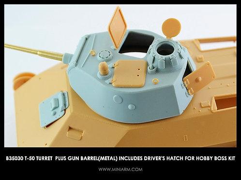 35030 MINIARM Башня Т-50 (Hobby Boss) со стволом и люком мехвода - b35030 1:35
