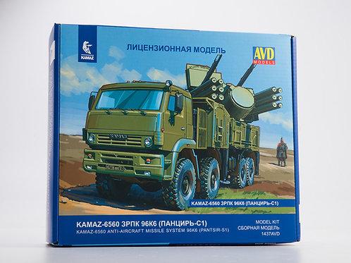 """КАМАЗ-6560 ЗРПК 96К6 """"Панцирь С1"""" - AVD Models 1437AVD 1:43 1437"""
