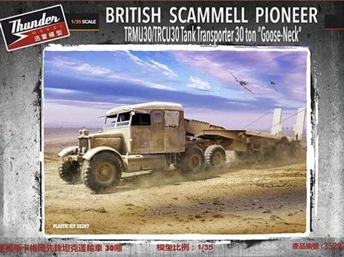 Британский тягач Scammell Pioneer 30 тонн с прицепом, Thunder Model tm35207 1:35