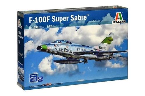 Американский Супер Сейбр самолет F-100F Super Sabre - Italeri 1:72 1398
