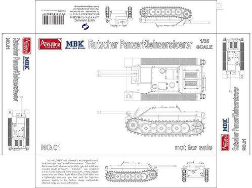 (под заказ) Вундервафля двустволка Rutscher Е-5 - Amusing Hobby 35B001 1/35
