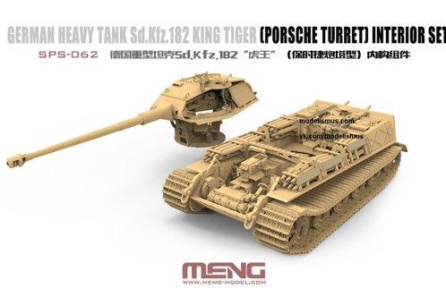 MENG SPS-062 1/35 Интерьер Королевский Тигр Порше