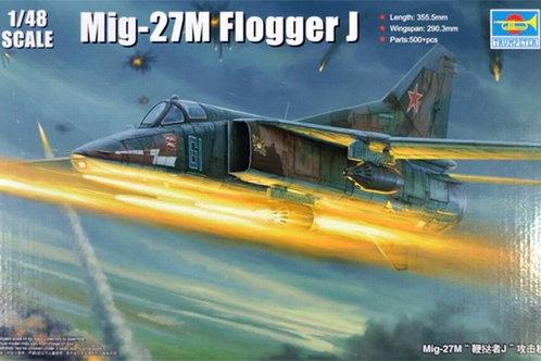 (п/заказ) Советский самолет МиГ-27М / MiG-27M Flogger J - Trumpeter 1:48 05803