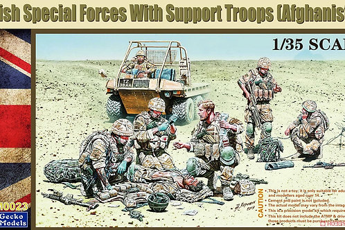 (под заказ) British Special Forces W/Support Troops - Gecko Models 1:35 35GM0023
