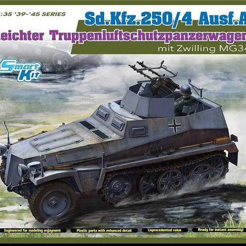 (под заказ) БТР Sd.Kfz.250/4 Ausf A with MG34, Full interior - Dragon 6878 1:35
