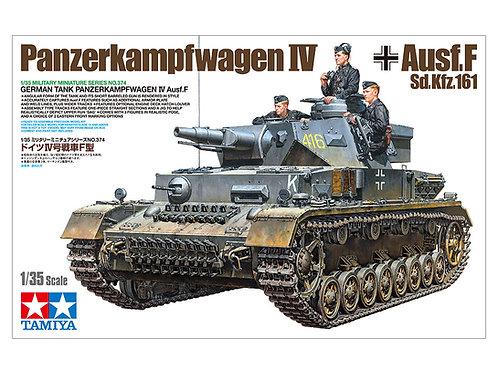 (под заказ) Немецкий танк Pz.IV Ausf. F + фигурки танкистов - Tamiya 1:35 35374