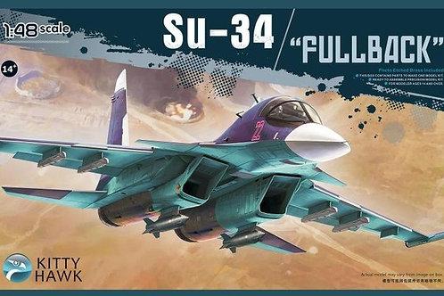 (под заказ) Сборная модель Бомбардировщик Су-34 - Kitty Hawk KH80141 1/48