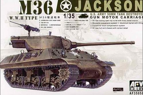 Американская 90-мм САУ M36 Jackson Джэксон - AFV Club 1:35 AF35058