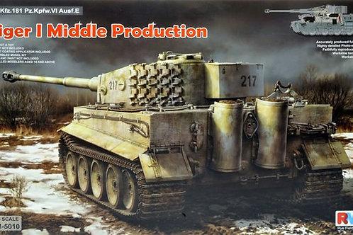 Tiger I основная серия полный интерьер Rye Field Model RM-5010 1:35