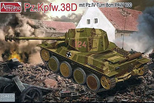 (под заказ) Pz.Kpfw.38D с башней Pz.IV и 80-мм пушкой, Amusing Hobby 35A019 1/35