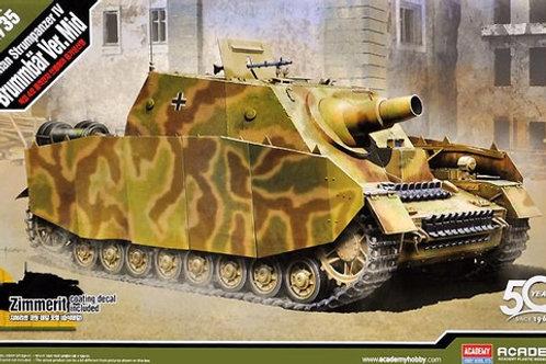 (под заказ) Штурмпанцер IV с циммеритом, основная серия - Academy 1:35 13525