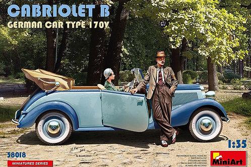 (под заказ) 38018 MiniArt 1/35 CABRIOLET B GERMAN CAR TYPE 170V