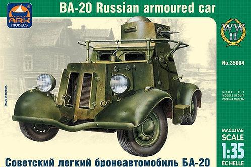 (под заказ) Советский легкий бронеавтомобиль БА-20 - ARK models 35004 1/35