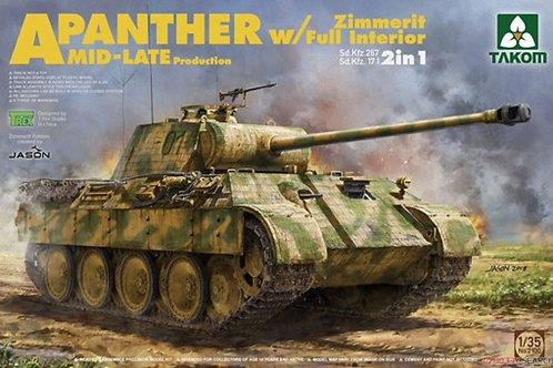Panther Ausf.A Mid-Late, интерьер, циммерит - Takom 2100 1/35