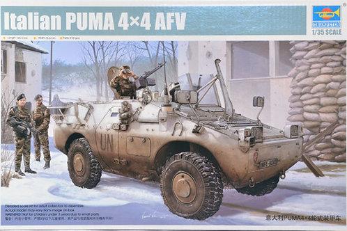 Italian Puma 4 x 4 Wheeled Armored Fighting Vehicle - Trumpeter 1:35 05525