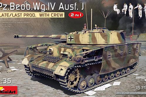 Pz/Beob.Wg.IV Ausf. J Late/Last Prod 2in1 w/Crew, MiniArt 1:35 35344