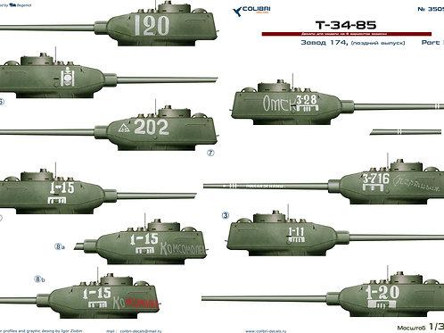 35059 Colibri Decals 1/35 Декали Т-34-85 завод 174 Омск, поздний выпуск, часть 2