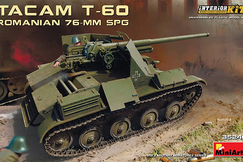 """Румынская 76-мм САУ """"TACAM"""" на базе T-60, полный интерьер - MiniArt 35240 1:35"""