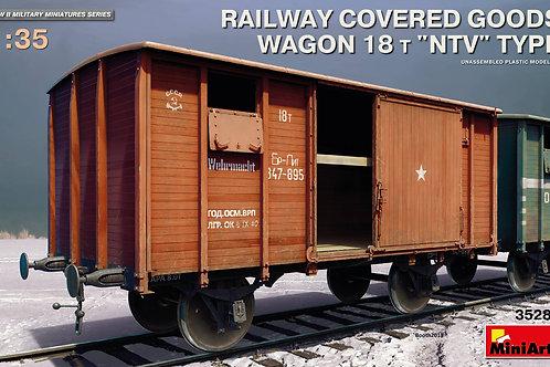Товарный 18-тонный вагон тип НТВ - MiniArt 35288 1/35