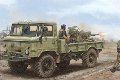"""Советский гантрак ГАЗ-66 """"Шишига"""" с ЗУ-22-4 - Trumpeter 01017 1:35"""