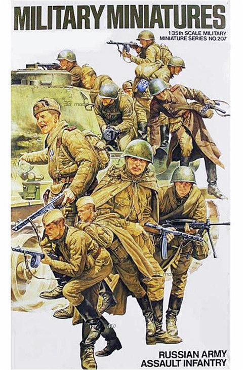 35207 Tamiya 1:35 Советский танковый десант (12 фигур)