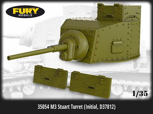 (п/заказ) 35054 Fury Models Башня Стюарт M3 Stuart turret initial D37812 (1:35)