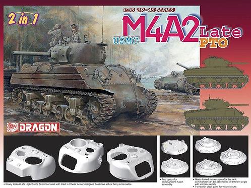 Американский танк Шерман USMC M4A2 Late PTO - Dragon 6462 1:35