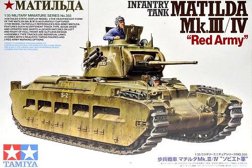 "Танк Матильда (РККА) Matilda Mk.III/IV ""Red Army"" - Tamiya 1:35 35355"