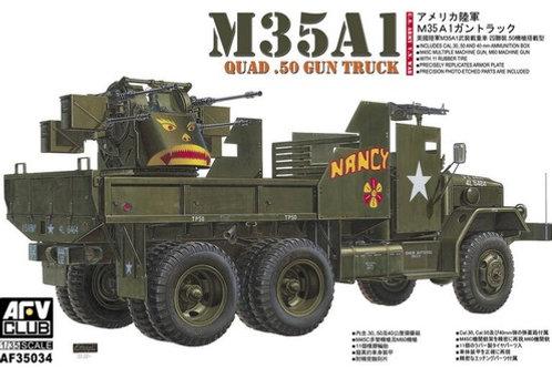 Гантрак U.S. Army M35A1 Gun Truck Quad- .50 - AFV Club 1:35 AF35034