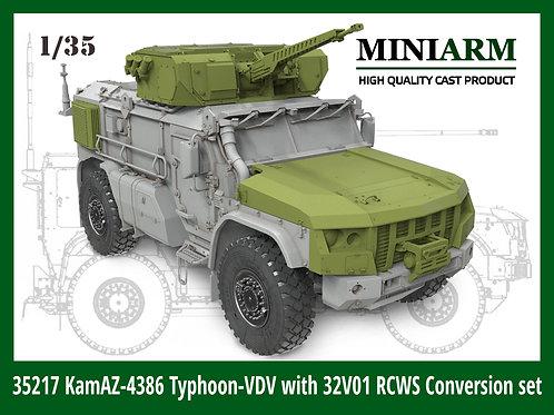 (п/заказ) 35217 MINIARM Конверсия К-4386 Тайфун-ВДВ с боевым модулем 32В01 (RPG)