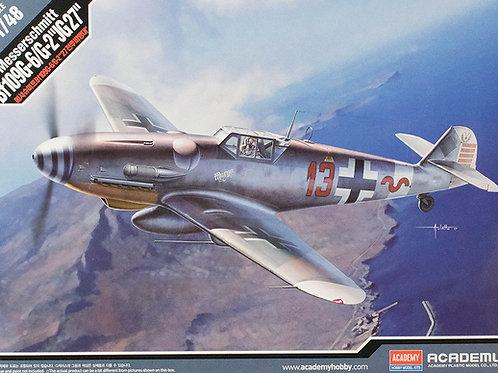 """Самолет Messerschmitt Bf109G-6/G-2 """"JG 27"""" - 12321 Academy 1/48"""