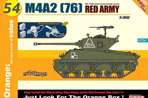Sherman M4A2 (76) Red Army w/Maxim Machine Gun - Cyber Hobby (Dragon) 9154 1:35
