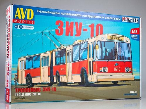 Сборная модель ЗиУ-10 (ЗиУ-683) троллейбус - AVD Models 4024AVD 1/43