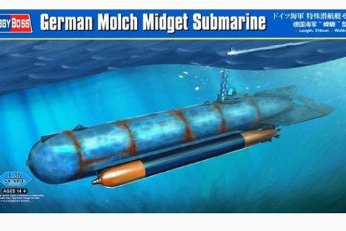 "80170Немецкая мини-подлодка ""Саламандра"" (Molch Submarine) - Hobby Boss 1:35"