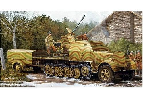 Немецкий тягач Sd.Kfz. 7/2 и 37-мм зенитка Flak 43 - Trumpeter 01527 1:35