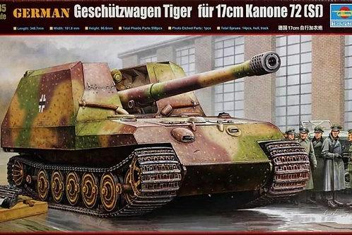 Самоходка Tiger für 17cm Kanone 72 (Sf) - Trumpeter 1:35 00378 - под заказ