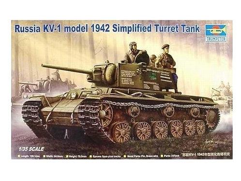 Советский танк КВ-1 мод. 1942 года - Trumpeter 00358 1:35