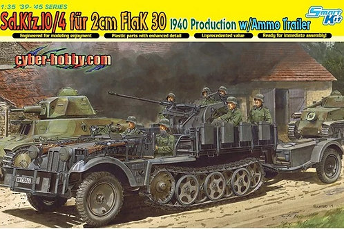 Sd.Kfz.10/4 + 2cm FlaK 30 + Ammo Trailer - Dragon 6711 1/35
